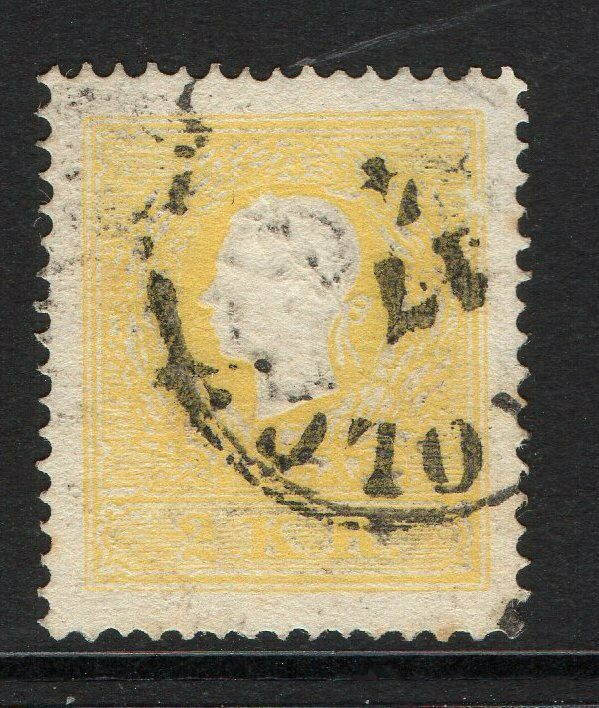 AUSTRIA SG22a 1859 2k YELLOW TYPE II USED