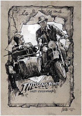 Indiana Jones And The Last Crusade  1989  Harrison Ford Movie Poster Print 3