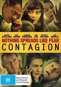 Contagion (DVD, 2017) Matt Damon Brand New & Sealed Region 4