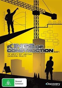 Kings Of Construction - 6 x 52'1 (DVD, 2009, 2-Disc Set) New & Sealed-FREE POST