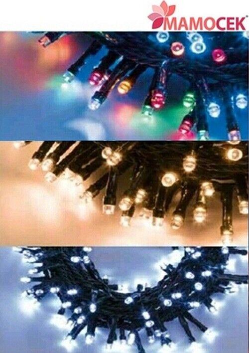 LUCI DI NATALE a batteria catena 48 LED 2,85MT 7 giochi di luce interno ESTERNO