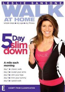 Leslie Sansone - Walk At Home - 5 Day Slim Down (DVD, 2012)