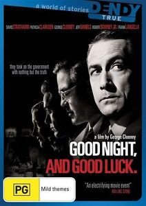 GOOD NIGHT AND GOOD LUCK..GEORGE CLOONEY.. DOWNEY JR..R4..NEW& SEALED  dvd661