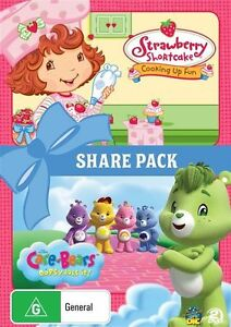 Strawberry Shortcake - Cooking Up Fun / Care Bears - Oopsy Does It (DVD,...