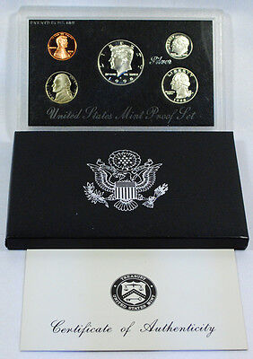 1997 UNITED STATES US MINT 5PC SILVER PROOF SET SKU1458
