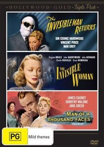 The Hollywood Gold - Invisible Man Returns / Invisible Woman (DVD, 2014,...