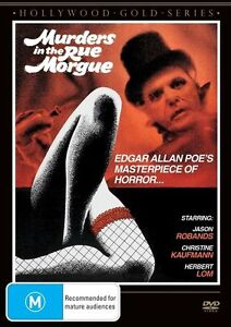 E38 BRAND NEW SEALED Murders In The Rue Morgue (DVD, 2013)