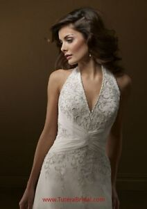 Ivory Wedding Dress Unaltered and Not Hemmed