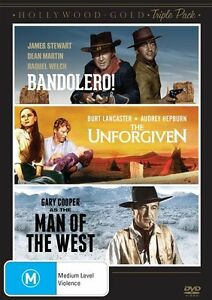 Hollywood Gold - Western - Bandolero /The Unforgiven / Man Of The West (DVD,...