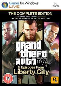 GTA Grand Theft Auto IV 4 & and Episodes from Liberty City Complete Edition PC