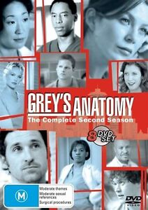 Grey's Anatomy : Season 2 ( 8 dvd Set) region 4