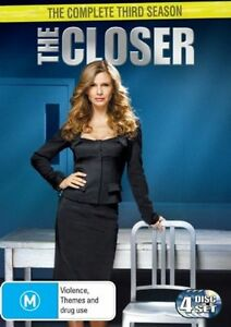 The-Closer-Season-3-DVD-2008-4-Disc-Set-R4-Excellent-Condition