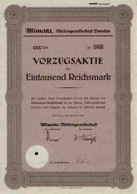 Mimosa AG 1943 Dresden Sachsen Köln Photopapier Kamera VEB Zeiss Ikon Hannover
