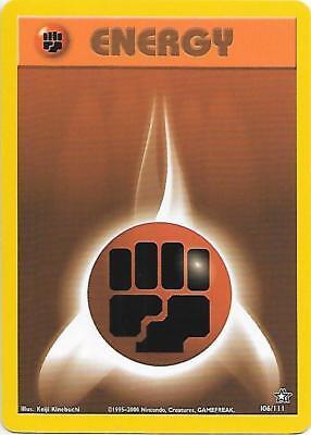 Fighting Energy 106 111 Neo Genesis Pokemon Energy Card  Ex
