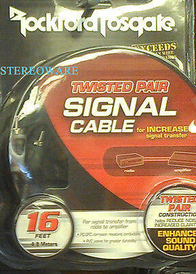 Rockford Fosgate RFI-16 16 Foot Twisted RCA Signal Cable OFC Platinum Plated NEW