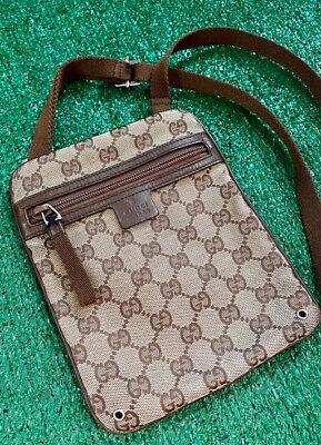 Gucci (Vintage) GG Monogram Shoulder Crossbody Bag Good condition LV supreme off
