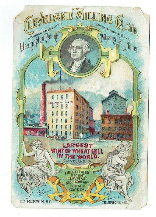 "Flour Trade Card- Cleveland Milling Co.-"" Washington Patent Flour"" – Fair"