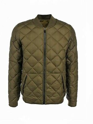 NIKE Downtown 550 Army Green Reversible Quilted Down Bomber Jacket 2XL Mens 8686d12c9