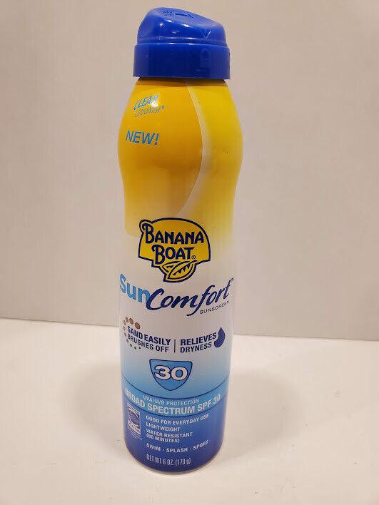 Banana Boat SunComfort Clear Spray Sunscreen, SPF 30, 6 fl o