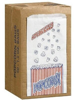 50 POPCORN BAGS Movie Theater - Medium size 1.5 oz each Food Safe Treat bags