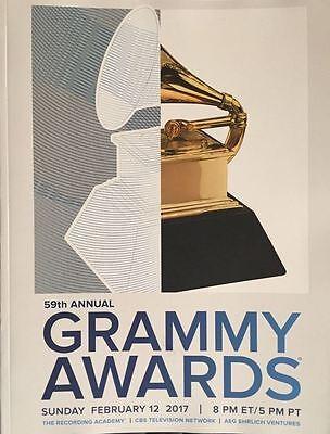 2017 GRAMMY AWARDS OFFICIAL PROGRAM MUSIC MEMORABILIA BEYONCE ADELE 2018 WINNERS