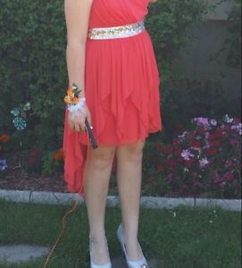 Grad dress and shoes 100$