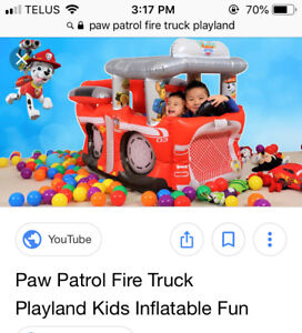Paw Patrol fire truck play land with 50 balls- new in box