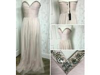 Lipsy VIP Dusky pink. Size 10-12. Prom, Bridesmaid or Occasion dress.