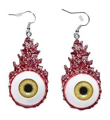 WIM 12463 Ohrringe Blutige Augen Hänger Modeschmuck Halloween Kostüm - Kostüm Schmuck Ohrringe