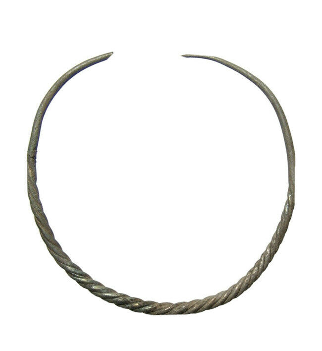 Stunning Eastern Celtic Silver Torque/Torc, La Tene Culture 4th-3rd Century BC
