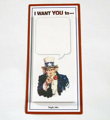 Uncle Sam - Sticky Notes - Simple Prank Joke Funny Sticky Memo Pad - Memo Note