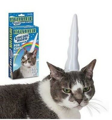 Inflatable Unicorn Horn for Cat - Halloween Costume or for Fun - SHIPS IN 1 - Cat Unicorn Costume
