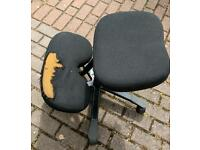 Kneeling office chair in need of re-upholstery