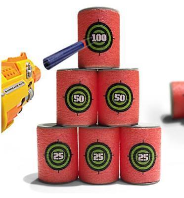 EVA Dart Foam Gun Shoot Soft Bullet Target for NERF N-Strike Elite Blasters Toys