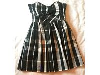 Black and white, checkered, short formal dress (size 10)