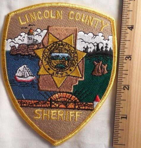 LINCOLN COUNTY OREGON SHERIFF PATCH (FIRE, HIGHWAY PATROL, STATE POLICE)