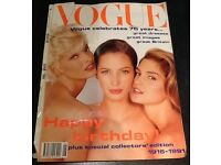 Vogue covers from the 1980s - 90s on sale £40 for the set. I was going to put them in picture frame