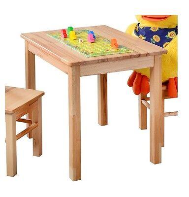 Kindertisch Beistelltisch Kinder Kindermöbel Tisch Spieltisch Kernbuche massiv