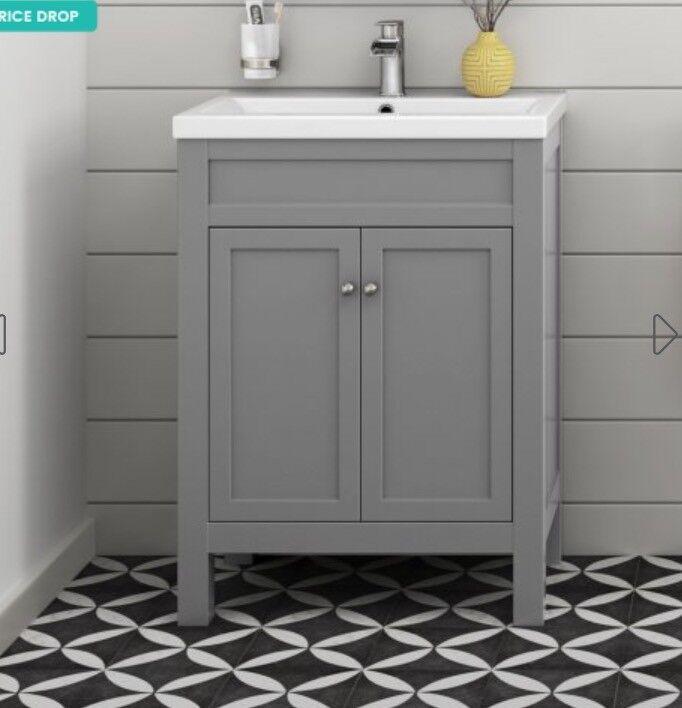 Melbourne Earl Grey Double Door Vanity Unit Floor