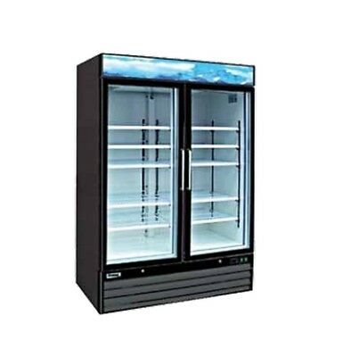 Entre Egd-2df-48 48 Cu.ft. 2 Glass Doors Freezer With 8 Shelves Nsf-7 Ul-471