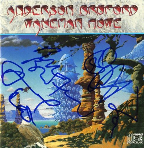 Anderson, Wakeman, Howe, Bruford (YES) Signed CD, Stunning!!!