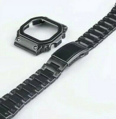Black age stainless steel bezel and bracelet for Casio G Shock GW-M5610,GLX5600.