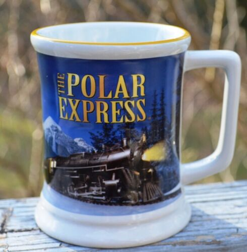 "NEW THE POLAR EXPRESS TRAIN RIDE ""BELIEVE"" HOT CHOCOLATE/COFFEE MUG"
