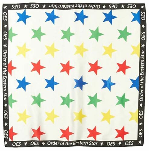 Order of the Eastern Star OES Neck Scarf 100% Soft and Silky Viscose- New!