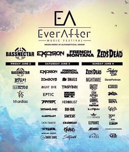 Ever After Music Festival GA Hard Copy Tics @ Bingemans Centre