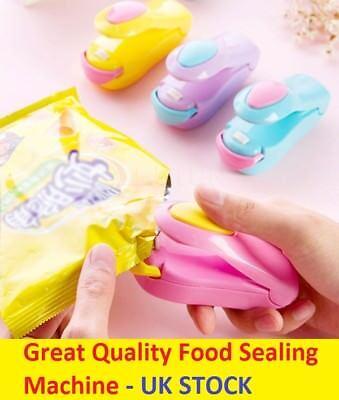 Mini Food Heat Sealing Machine Plastic Portable Impulse Packing Bag Sealer Hot