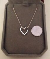 Sterling Silver 925 Heart Necklace