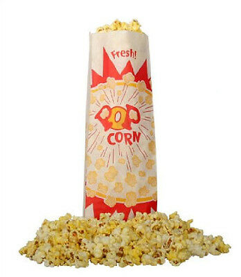 Popcorn Machine Supplies 1000 Jumbo 2 Oz Popcorn Bags