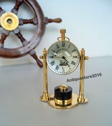 NAUTICAL BRASS FINISH DESK TOP TABLE CLOCK WITH CLOCKS REPLICA BEAUTIFUL GIFT...