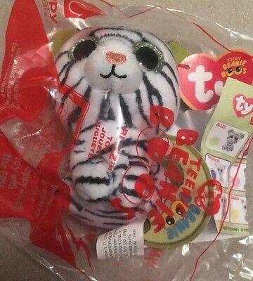 2017 McDonalds TY Teenie Beanie Boos #2 Blizz Tiger Happy Meal Toy Sealed New
